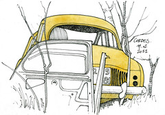 81 Cordes (gerard michel) Tags: auto car sketch franc croquis