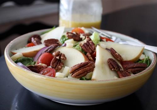 Apple, Nut & Cheese Salad with Apple Vinaigrette