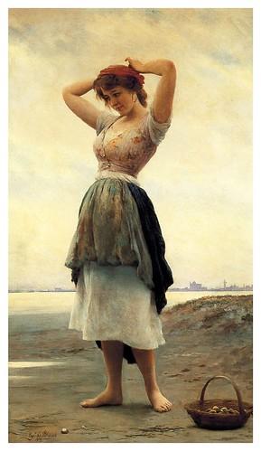 006-En la playa-Eugene de Blaas