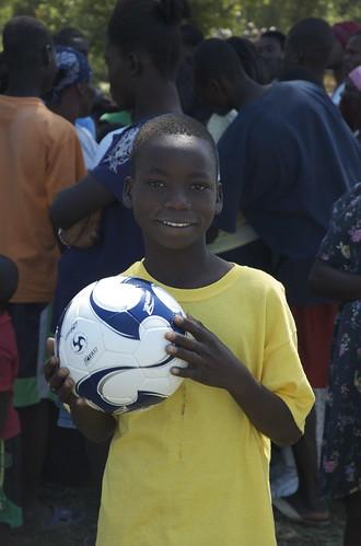 boy ball haiti soccer soccerball haitian