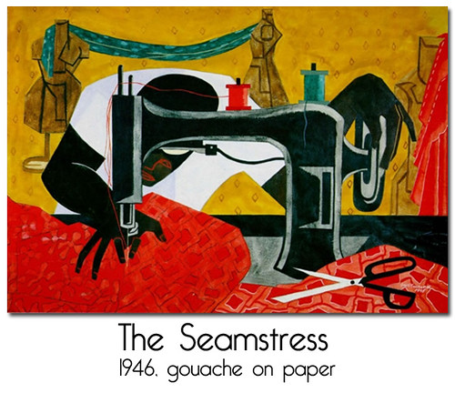 The Seamstress by Jacob Lawrence