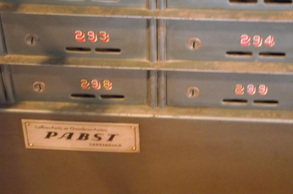OLD FRENCH METAL CASH DEPOSIT BOX 'ARMOIRE DE BANQUE'