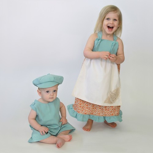 Handmade Sewn Spring Easter Brother Sister Set Newsboy Cap Hat