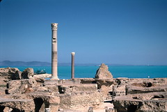 2002 Carthage on film (It's my whole damn raison d'etre) Tags: africa blue film water ruins mediterranean roman tunisia tunis north carthage bizzerte yahoo:yourpictures=landscape