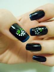 Black + Francesinha Azul (x_Jess) Tags: black azul preto unha esmalte francesinha
