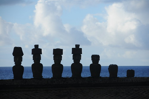 moai at anakena, outline