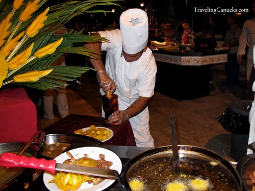 Chef preparing Dominican Dish