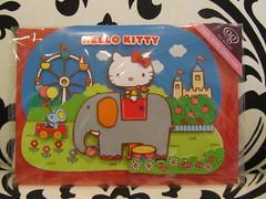 Hello Kitty Greeting Card - Happy Birthday (Suki Melody) Tags: hello birthday elephant castle wheel glitter cat mouse happy flat hellokitty character kitty fair ferris sanrio collection card kawaii stationery greeting