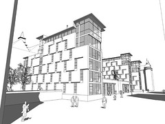 Street Perspective showing New Build Housing