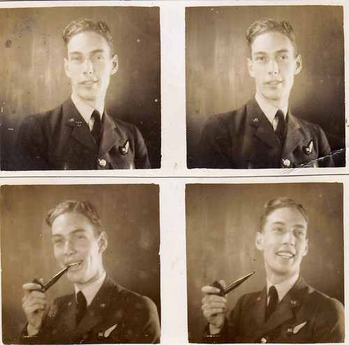 Polyfoto of an unidentified Royal Air Force man.