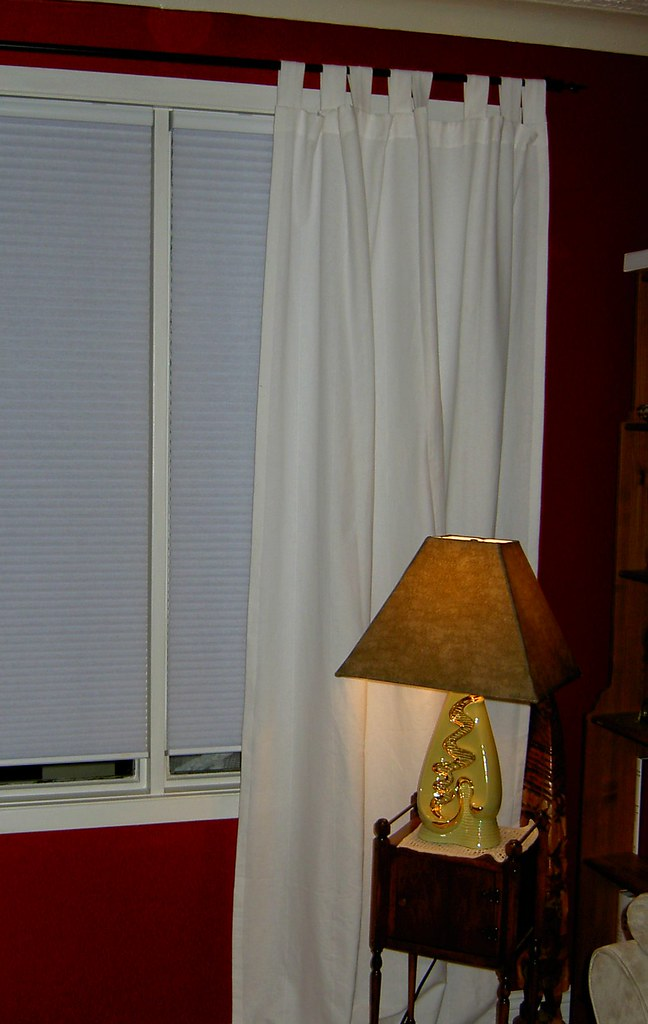 Cordless Cellular shades with casual side panels