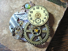 Ticking Away (lisby1) Tags: vintage costume cosplay handmade oneofakind ooak victorian jewelry fantasy scifi sciencefiction etsy custom recycle clockworks artisan faerie larp steampunk neovictorian upcycle indiedesigner womanmade indieartist clockpunk steapunk tatterpunk bigcirclesteampunkemporium