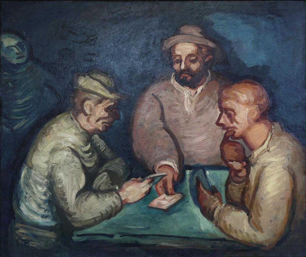 Antonín Procházka, Hráči [Gamblers], 1908