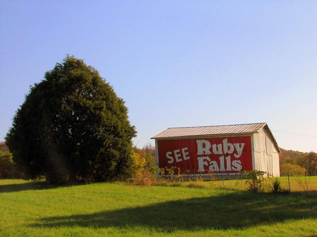 See Ruby Falls barn
