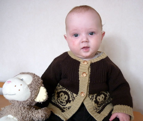 Thomas in his Monkey Cardi