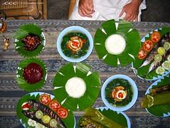 Indonesia-Bali / Ikan Bakar Dinner di Daun Pisang
