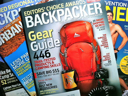 April 2011 cover of Backpacker Magazine