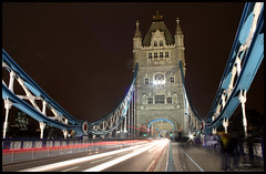 Tower Bridge light trails (Jessica Keating Photography) Tags: longexposure bridge light london cars night canon eos lighttrails londontowerbridge 450d jessicakeating