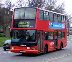 Arriva London North . DLP19 T219XBV . Hertford Road , Lower Edmonton , London . Saturday 05th-March-2011 . (AndrewHA's) Tags: bus london edmonton president daf arriva plaxton db250lf route279 t219xbv londonbusarriva dlp19