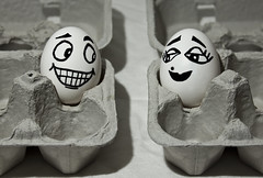 Egg love from cartons apart (Robby Ryke) Tags: white love canon easter happy sad egg 1855 cartons skippy apart strobist t2i
