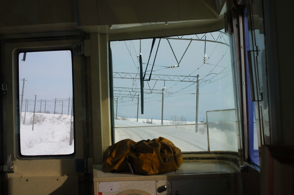 "the front train window of Limited Express ""Sarobetsu"" #1"