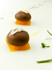 Foie con chocolate