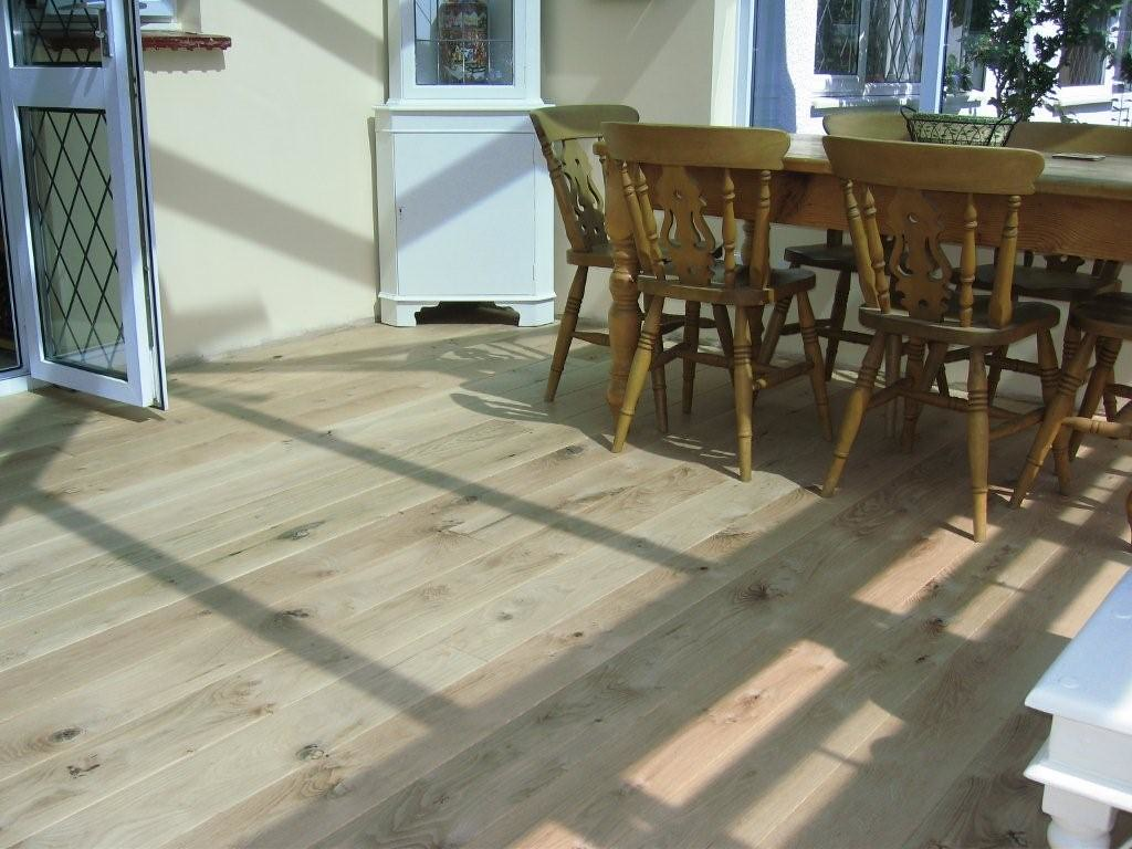 Unfinished rustic solid oak flooring
