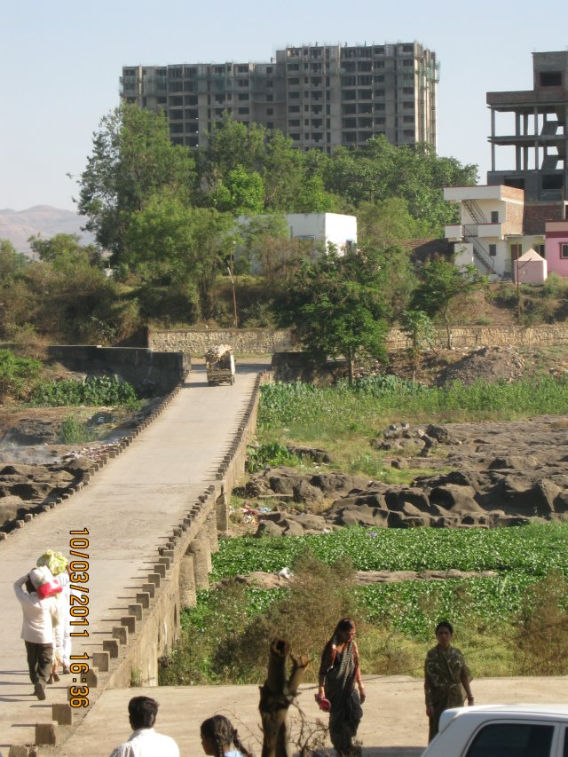 Shivane causeway and Nanded City Pune - view from Hotel Shivanand