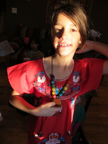 The Birthday girl with her Frida necklace