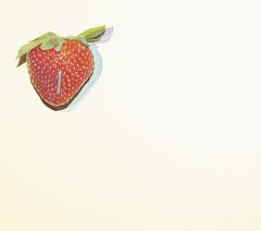 Strawberry Fields all day long (Kristi Frzier) Tags: sepia 3d strawberry flash 1960s trippy thebeatles strawberryfieldsforever acrosstheuniverse