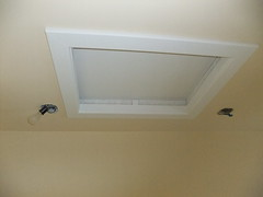 Attic access with casing