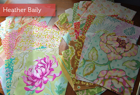 heather bailey freshcut fat quater fabric set