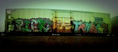 Diar (+PR+) Tags: railroad streetart pier trains tbk spraypaint railfan freight boxcars railcars rollingstock rxr railart diar benching trubl