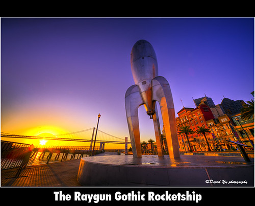 The Raygun Gothic Rocketship by davidyuweb