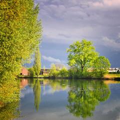 Wonderful day (ceca67) Tags: reflection nature river nikon day cloudy limmat ceca sbfmasterpiece pinnaclephotography sbfgrandmaster