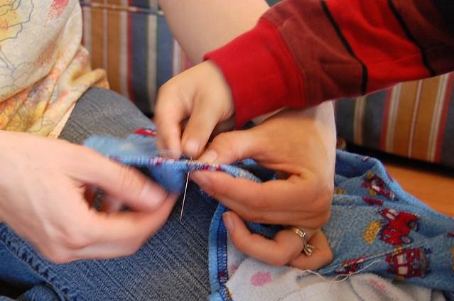 mending buttons