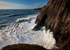 Cliff's of Neahkahnie looking North (Fresnatic) Tags: ocean oregon waves pacificocean oregoncoast westcoast neahkahnie oswaldstatepark canonrebelxsi fresnatic exposurenorthwest