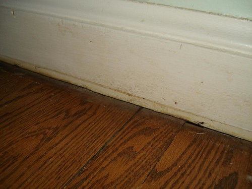 dirty baseboards need painting