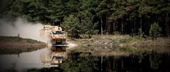 STK Warthog driving through water