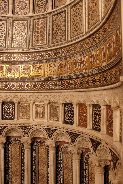 Detail of the main mihrab, Ummayad Mosque, Damascus - by shafraz nasser
