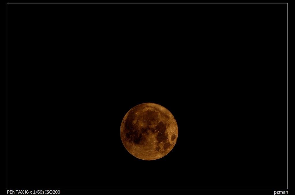 319不超級的超級月亮(Pentax K-X + Soligor 500mm f=8.8)