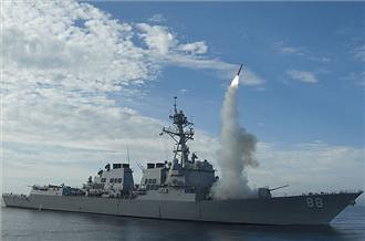 Cruise missiles being launched in the Mediterranean against the North African state of Libya. There have been over 40 people killed and many more injured by the U.S. and European military bombings. by Pan-African News Wire File Photos
