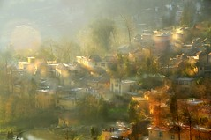 village (Melinda ^..^) Tags: china houses tree water field sunshine pattern village terrace chinese sunny multipleexposure mel melinda yunnan yuanyang    chanmelmel