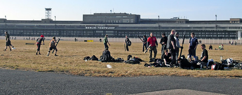 Erstes Jugger-Training auf Tempelhof, Weite