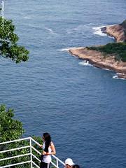 No Po de Acar - Rio de Janeiro (FM Carvalho) Tags: sea brazil mer rio brasil riodejaneiro de mar janeiro sony cybershot sonycybershot brsil hx5v sonyhx5v