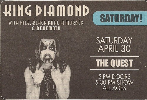 04/30/04 King Diamond @ Quest, Minneapolis, MN