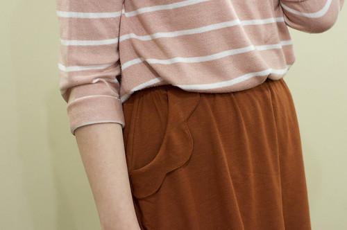 pink, white & rust