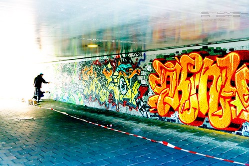 Graffiti bij Mosveld