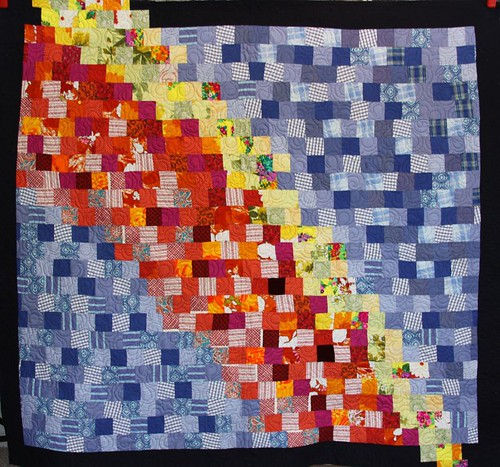 recycled fabric quilt, memory quilt, recycled clothing quilt, mamaka mills