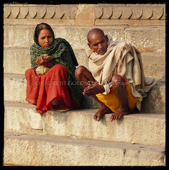 Sometimes (designldg) Tags: winter people woman india man square colours expression atmosphere human fabric soul varanasi shawl dharma kashi ganga ganges ghats benares benaras garment uttarpradesh  corporeal indiasong